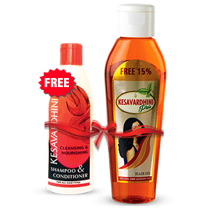 Kesavardhini Plus Hair Oil 115 ml Combo